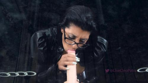 Livecleo - Sloppy BJ Dildo Spit On Tits Solo Latex [FullHD 1080P]