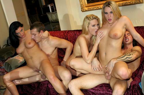 Steamy group sex