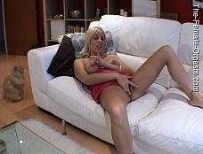 Sandie Caine on the Sofa
