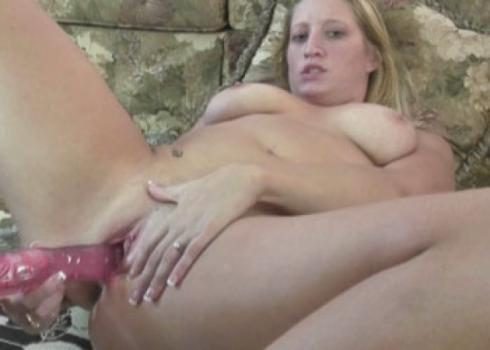 Brianna fucks her big dildo