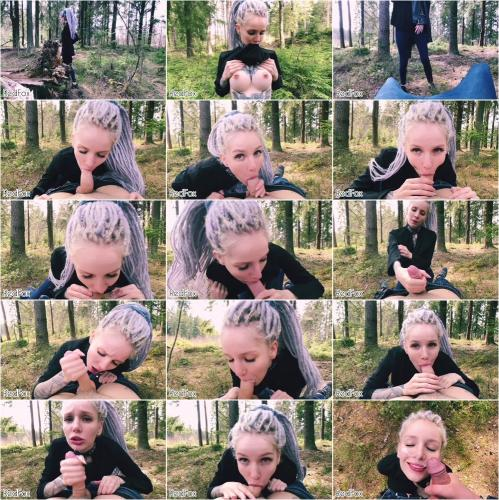 RedFox XXX - Outdoors Blowjob Teenage Nympho In The Forest Gets Cum On Face Red Fox [FullHD 1080P]