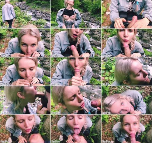 RedFox XXX - Schoolgirl Sloppy POV Blowjob On Nature Cums On Mouth [FullHD 1080P]