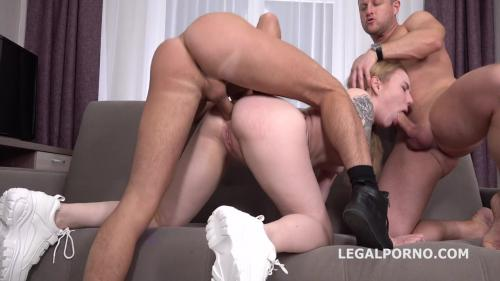 Bella Mur first DP with Rough Sex Balls Deep Anal and DP, Manhandle and Cum in Mouth GL093 [HD 720P]